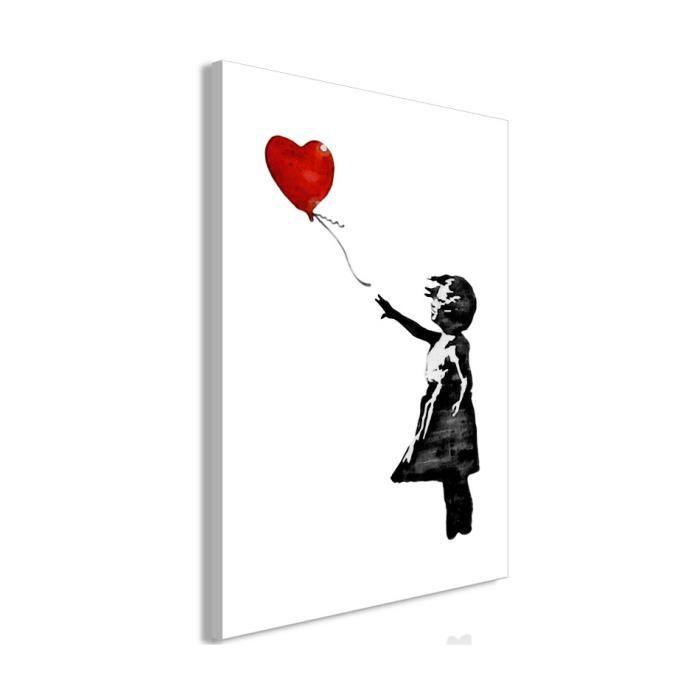 Tableau - Banksy: Girl with Balloon (1 Part) Vertical - 40x60 - Artgeist