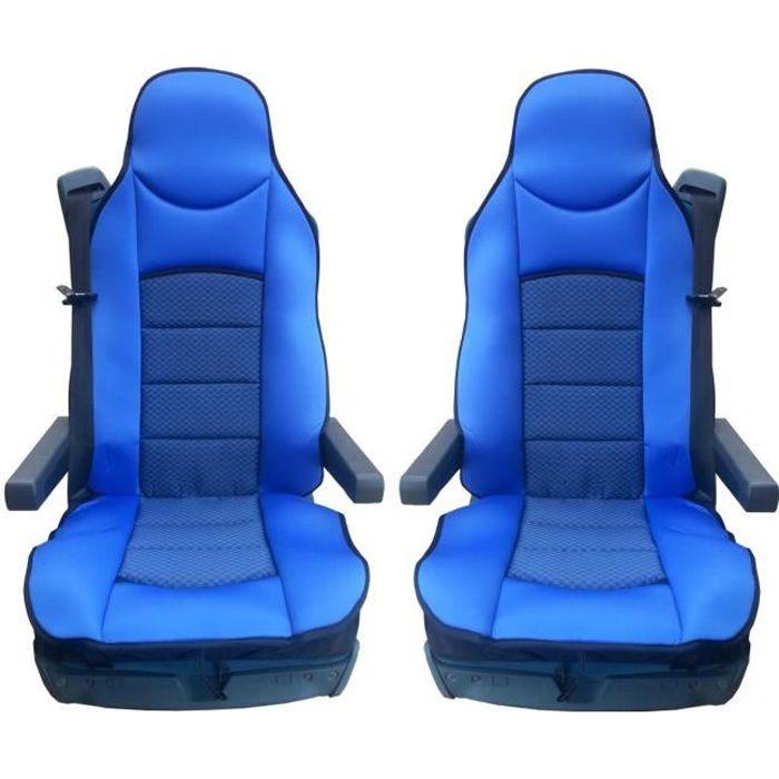2x LUXE HOUSSE COUVRE SIEGE COUVRE-SIEGE BLUE POUR VOLVO FH12 FH 16 FL FM FH16