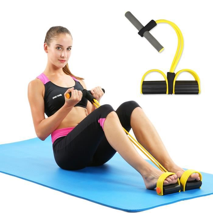Cordes de traction élastiques pour renforcement Abdominal, bandes de résistance élastiques pour équipement de Fitness-jaune