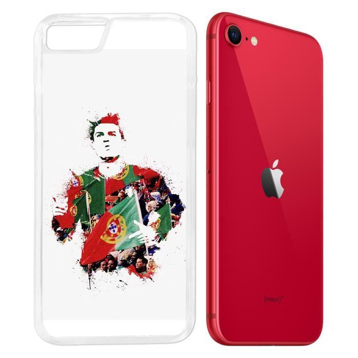 Coque iPhone SE 2020 - Ronaldo Football Splash. Accessoire telephone