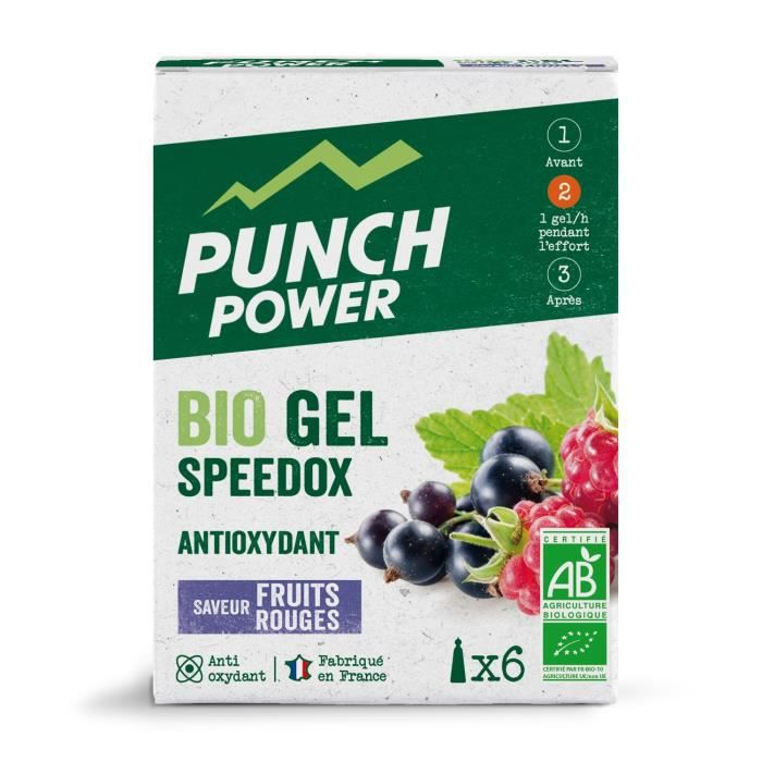 PUNCH POWER Speedox Fruits rouges - Boîte 6 gels