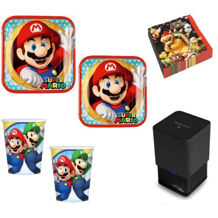 Mgs33 Star Wars Ensemble de Vaisselle de Fête, Anniversaire, pour 8 Personnes Star Wars Offre Eco + Pack de 20 Bougies Anniversaire