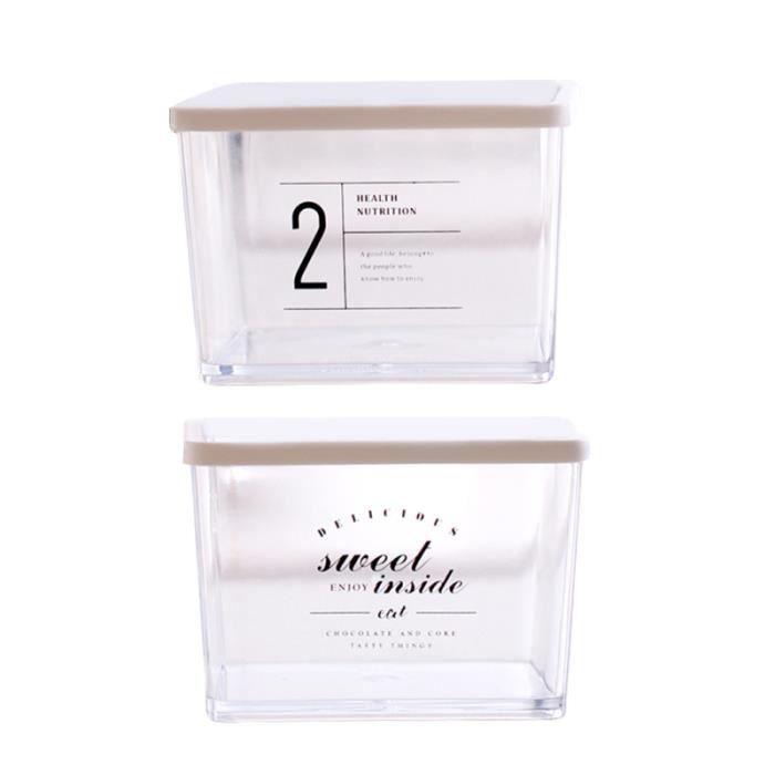 2pcs boîtes de rangement en plastique Europe Style bac à légumes rectangulaire de pour PRESERVATION BOXES - SEALED BOXES