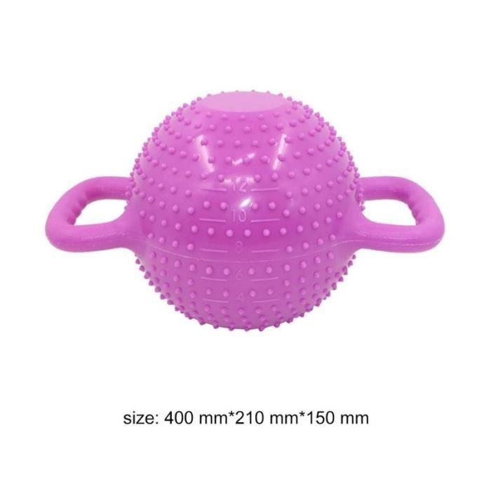 Yoga Fitness bouilloire cloche 4-12LB réglable eau Kettlebell haltère Double poignées Pilate exercice - Modèle: Gris -