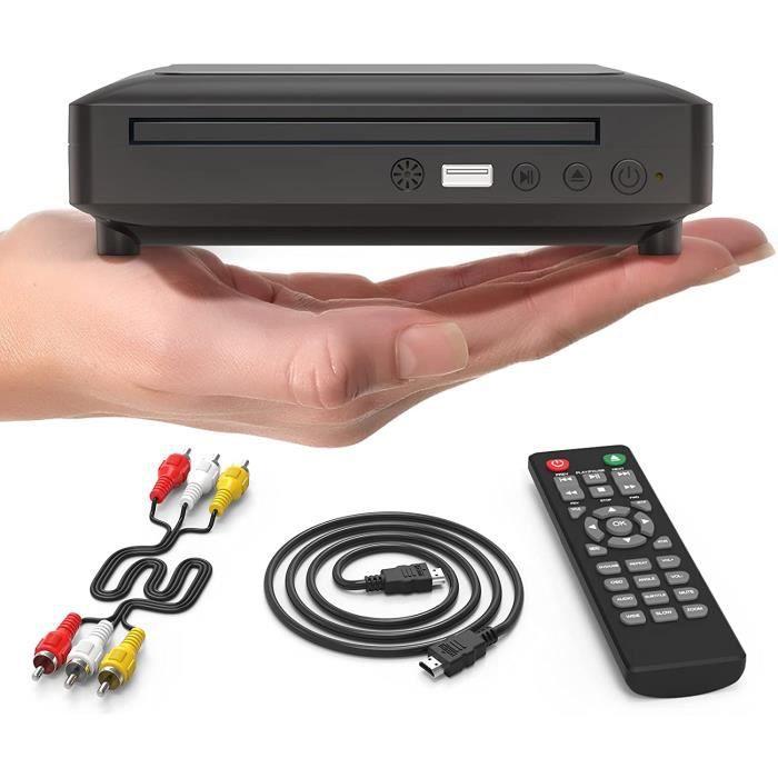 Ceihoit Mini lecteur DVD, lecteur CD-disque pour TV avec sortie HDMI-AV, câbles HDMI-AV inclus, HD 1080P pris en charge système PA