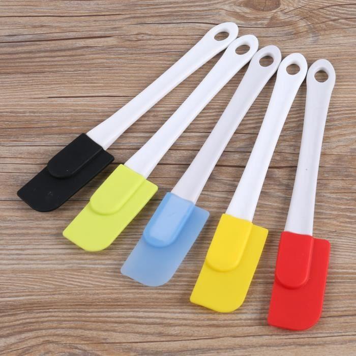 Moule à gateaux,Ensemble de spatules pour pâtisserie, 5 pièces-lot, pour la cuisine, en Silicone souple, service à bascule,