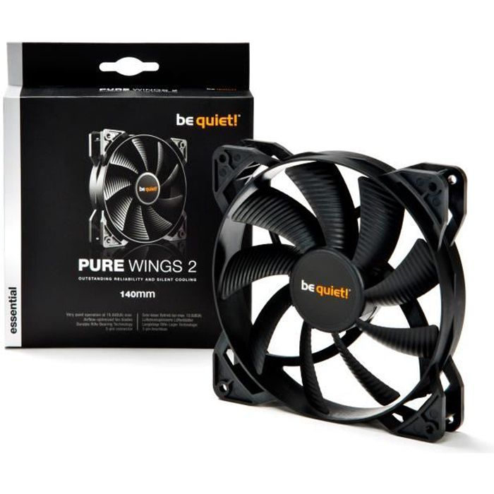 Be Quiet Ventilateur de boîtier PURE WINGS 2 - 140mm