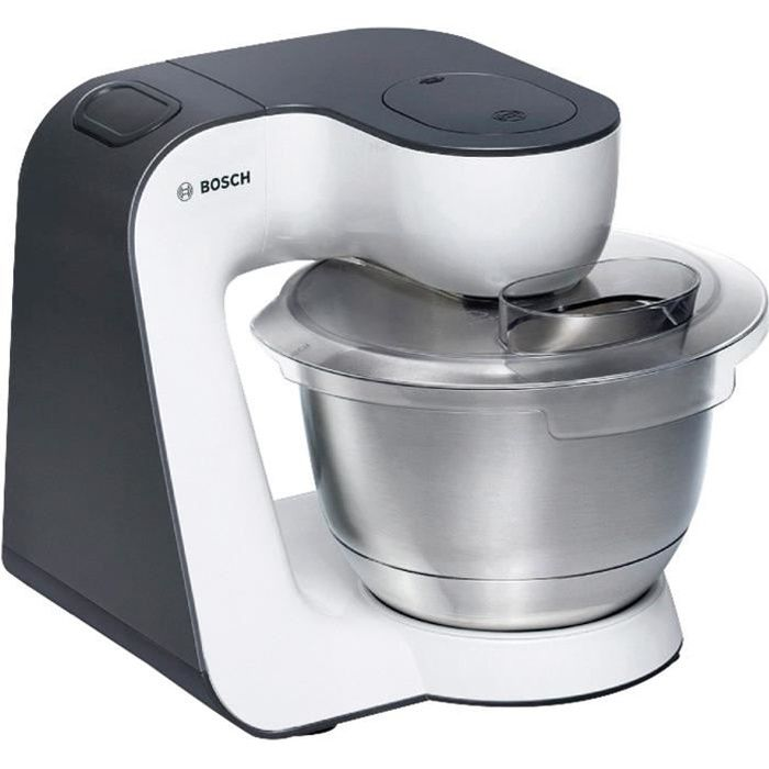 BOSH MUM50123 Kitchen machine - 800W - 4 vitesses + pulse - Bol 3,9L - Blanc/Gris