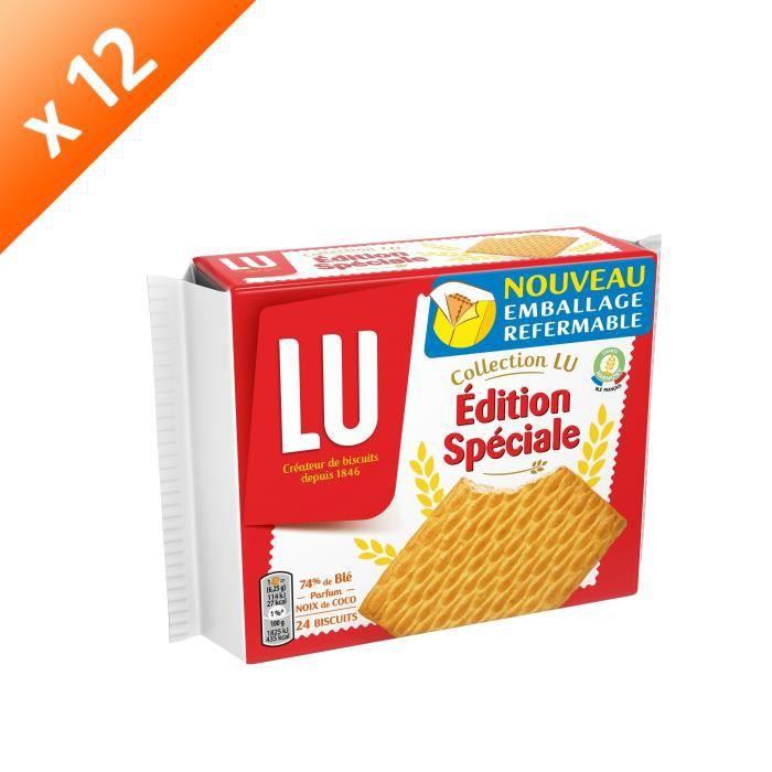 [LOT DE 12] LU Edition spéciale - Biscuits - 2 sachets x12 400g