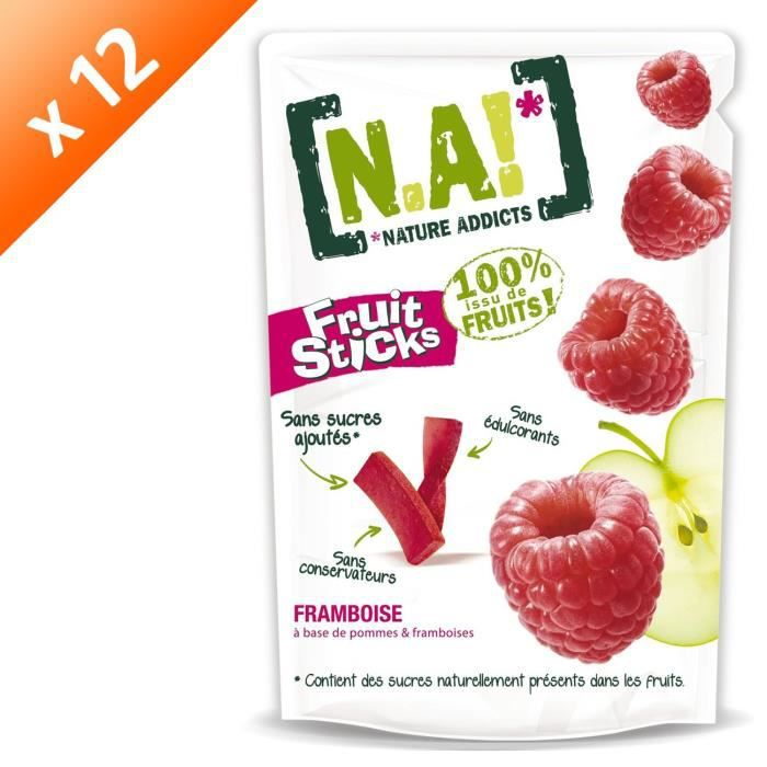 [LOT DE 12] N.A Fruit Sticks Doypack de Framboise - 40 g