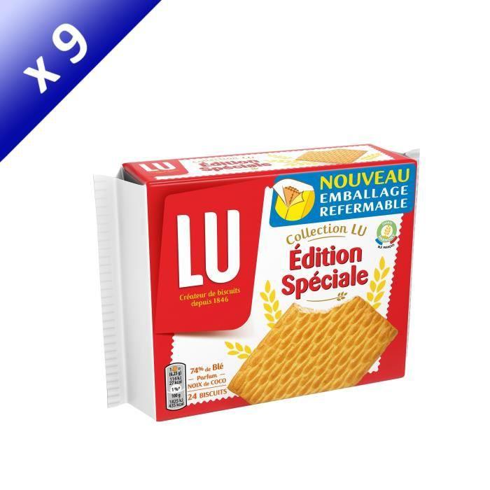 [LOT DE 9] LU Edition spéciale - Biscuits - 2 sachets x12 400g