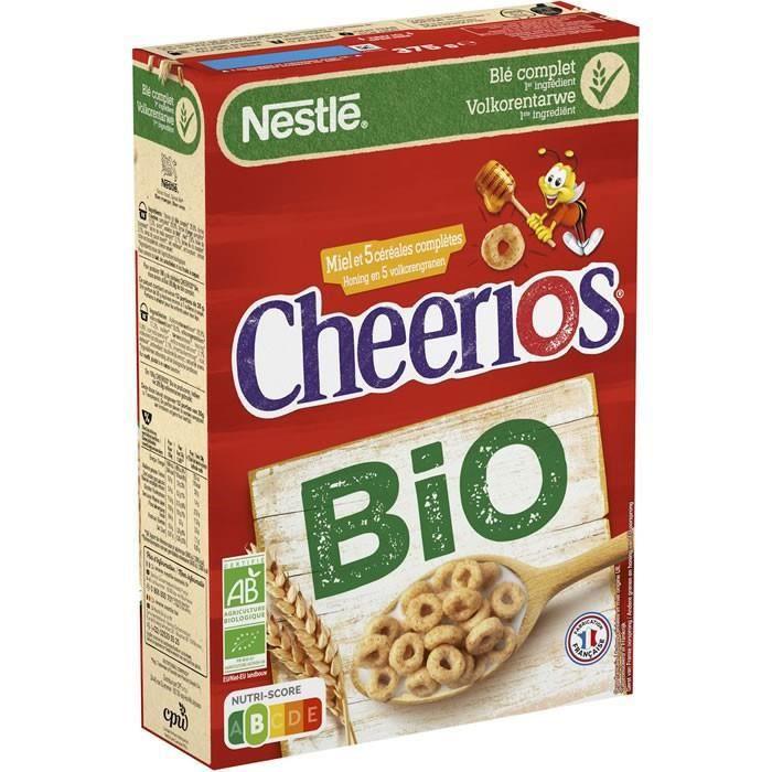 LOT DE 10 - CHEERIOS : Céréales au miel bio 375 g