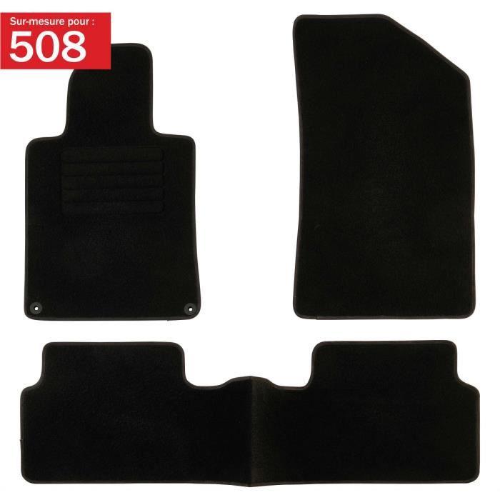 DBS - Tapis voiture / auto - Sur Mesure pour 508 / 508SW (2010 - 2018) - 3 pièces - Antidérapant - Moquette Classic