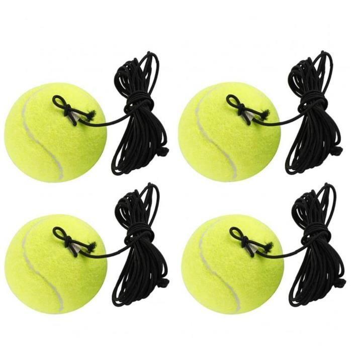 Tennis Entraînement balle Balles de remplacement durable avec cordes pour les débutants Single Player Formation Pratique vitesse jau