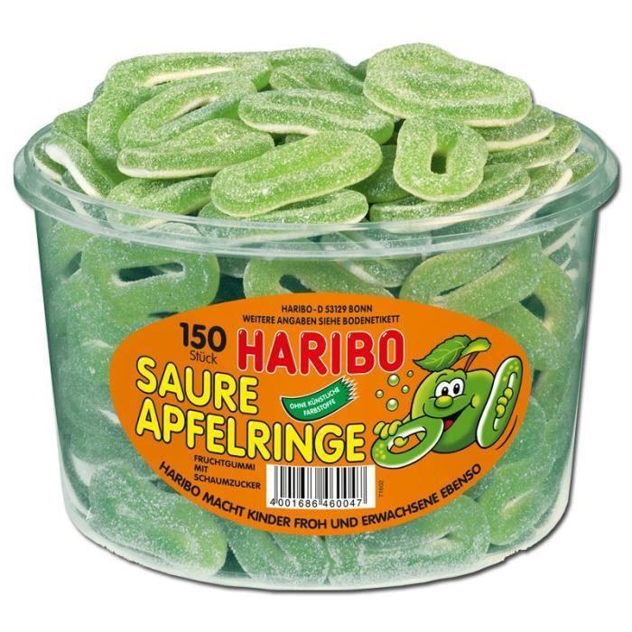 Haribo rondelles de pommes aigre, 150 pièces