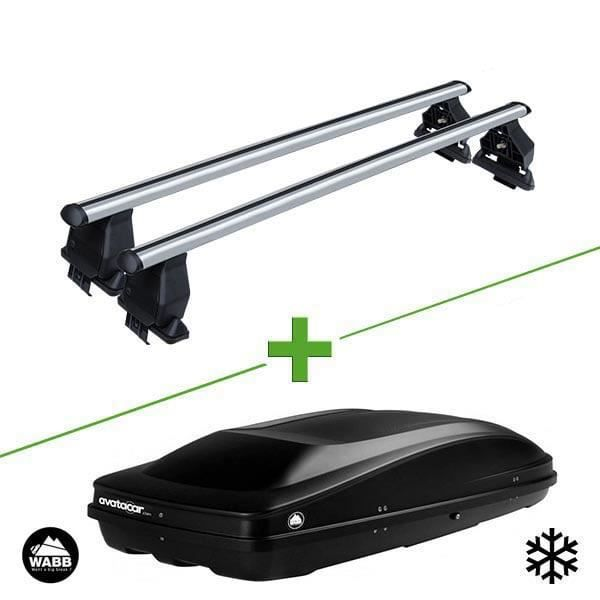 Pack barres et coffre de toit MBO Tema alu + Wabb L pour Volkswagen Golf Plus V 5 portes - 3666028103047