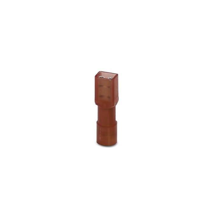 Cosse clip 2.8 mm x 0.5 mm Phoenix Contact 3240534 0.5 mm² 1.5 mm² entièrement isolé rouge 50 pc(s)