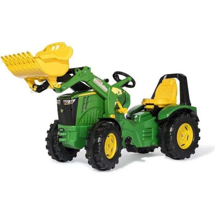 ROLLY TOYS - 651047 - Tracteur à pédales X-Trac Prémium JOHN DEERE 8400R + pelle
