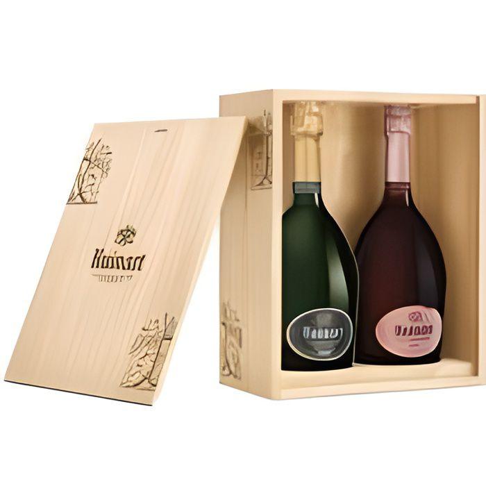 Ruinart Caisse Bois Duo le R de Ruinart & Rosé - Champagne AOC