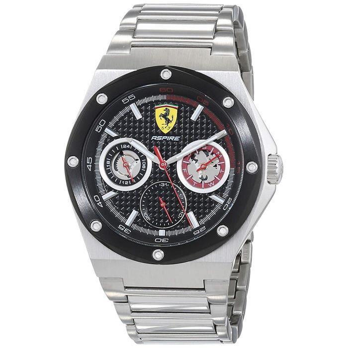 Scuderia Ferrari Hommes Multi-cadrans Quartz Montres bracelet avec bracelet en Acier Inoxydable - 830535 3383
