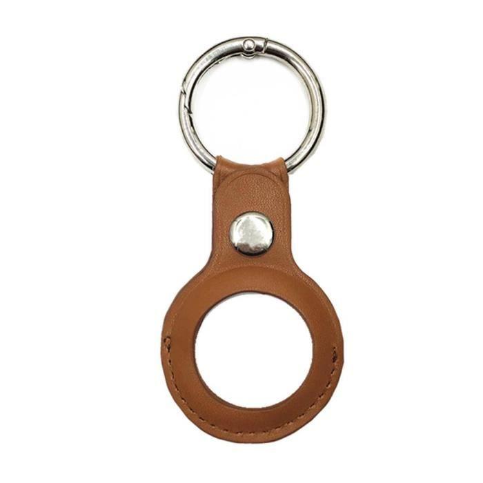 Étui Pour Airtags, Étui De Protection Pour Airtags, Couverture De Peau De Silicone Portable Avec Porte-cléss - Marron 015