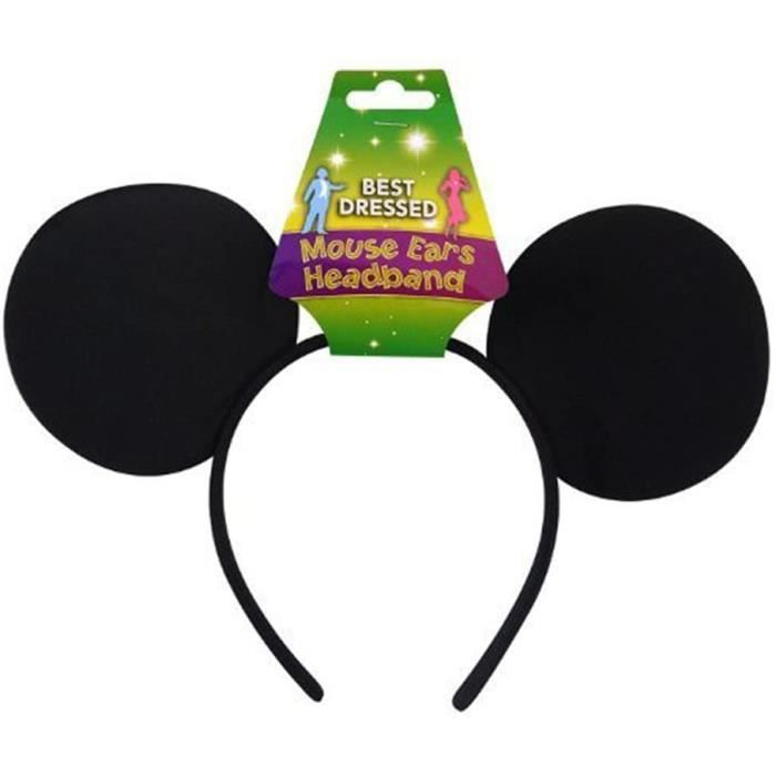 Toyland® Filles Garçons Souris Oreilles & Noeud Déguisement Minnie Mickey Fête Enterrement Vie Jeune Fille Souris Oreilles [ Uni ]