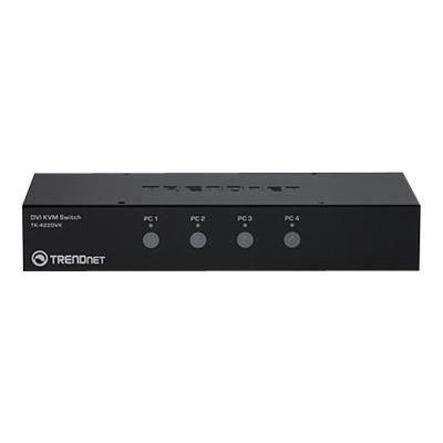 TRENDNET Boîtier de commutation KVM TK-422DVK - 4 Ordinateur(s) - 1 Utilisateur(s) local - 2560 x 1600 - 8 x USB - 5 x DVI
