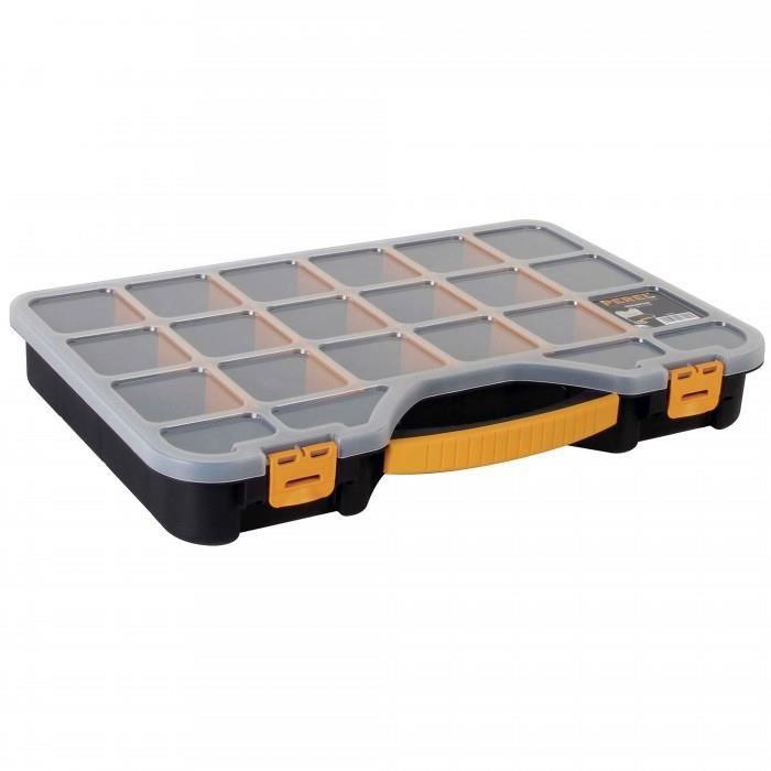 BAC DE RANGEMENT OUTILS Boite de rangement 20 casiers modulables.18 + 2 co