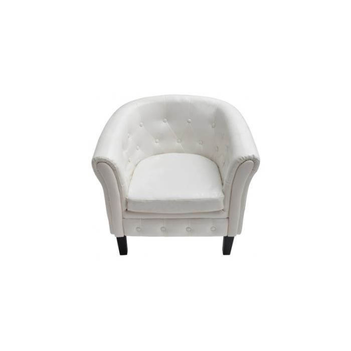 fauteuil chesterfield blanc achat vente fauteuil. Black Bedroom Furniture Sets. Home Design Ideas