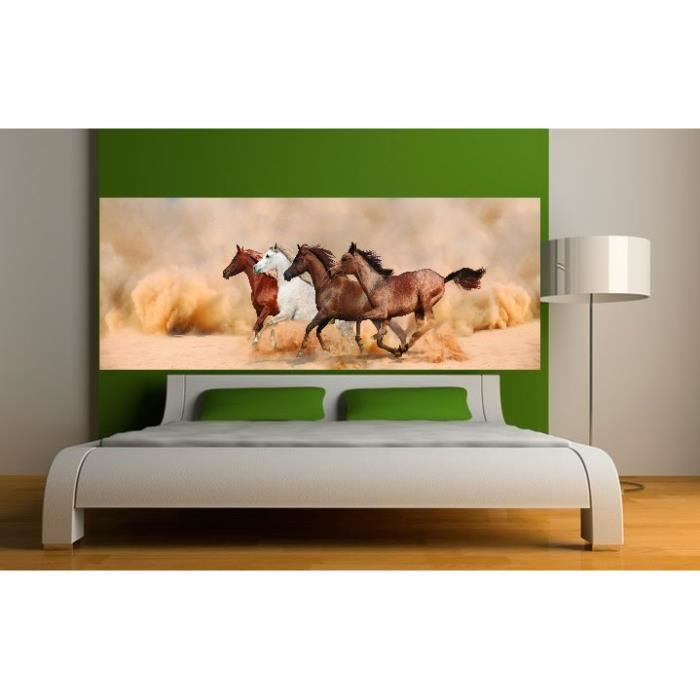stickers t te de lit d co chevaux dimensions achat. Black Bedroom Furniture Sets. Home Design Ideas