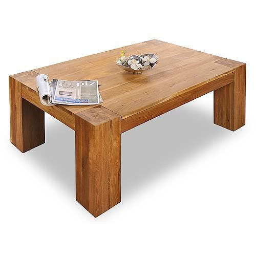 Table Basse Barrow 130x80 En Chene Massif Huile Miel