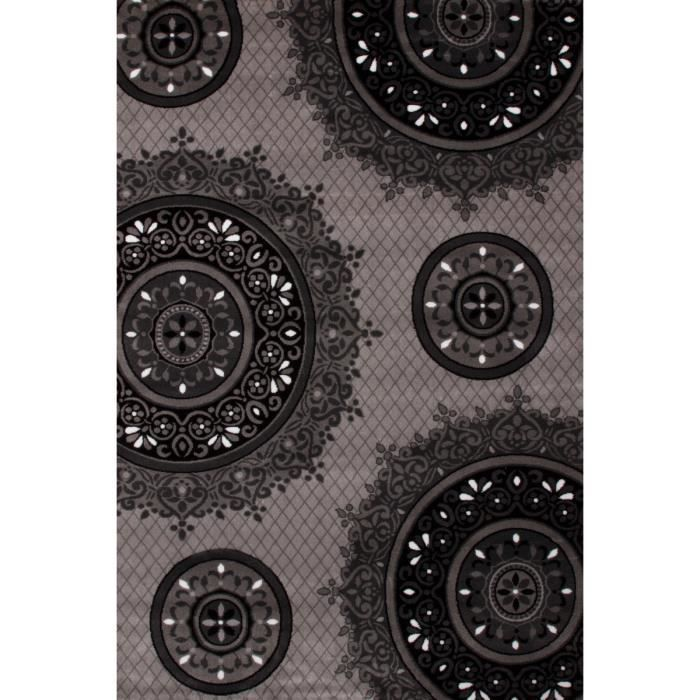 tapis oriental moderne gris et noir achat vente tapis cdiscount. Black Bedroom Furniture Sets. Home Design Ideas
