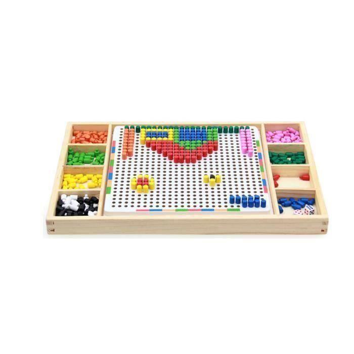 JEU DE MOSAIQUE Puzzle Enfant Jeu De Construction Mosaïque Jouet E