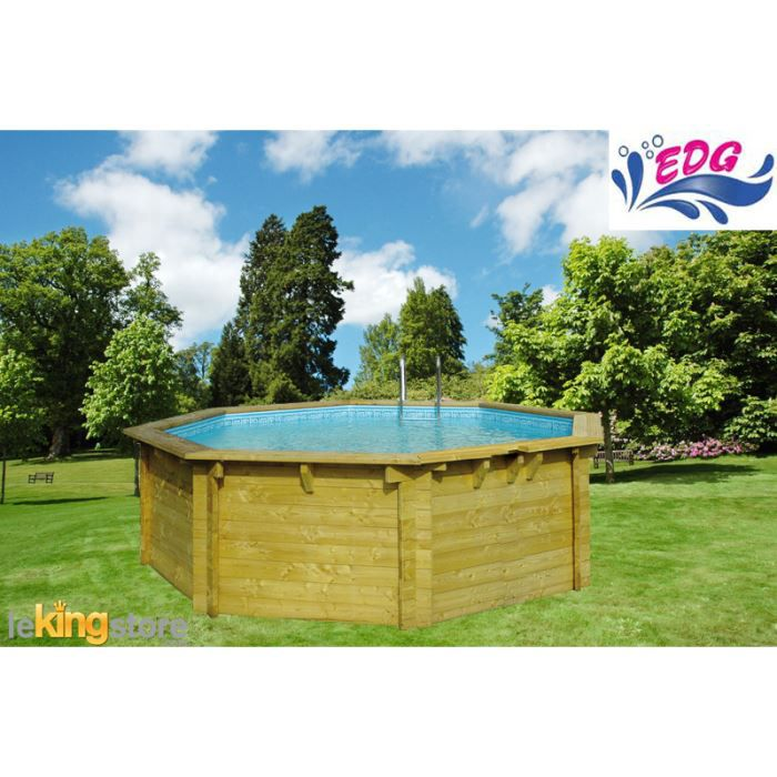 Piscine enterrable octogonale en bois bilbao 52 achat for Piscine enterrable bois