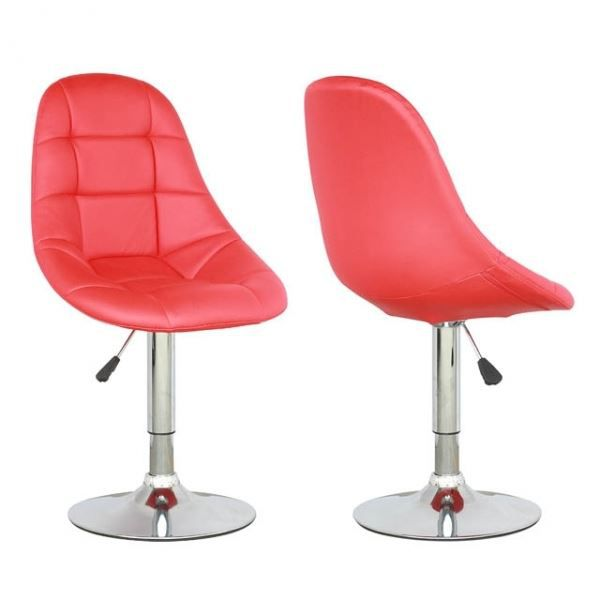 CHAISE CENTURY DESIGN ROUGE LOT DE 2