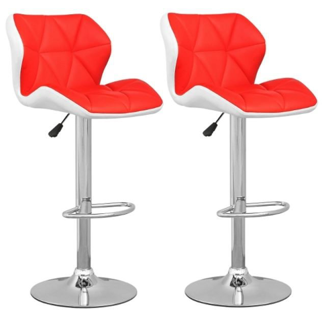tabouret de bar blanc rouge lot de 2 spider achat. Black Bedroom Furniture Sets. Home Design Ideas