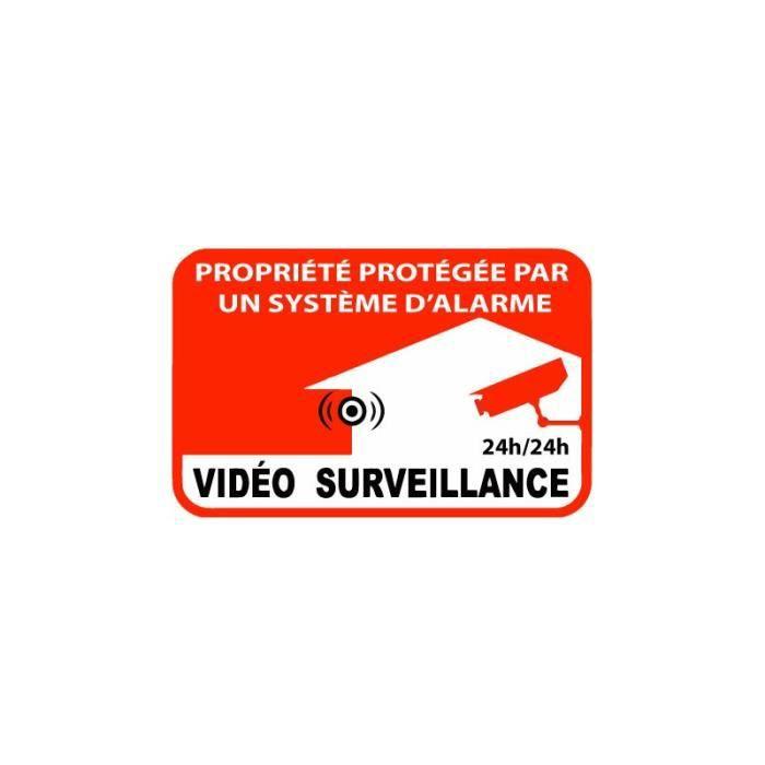 Autocollant Etablissement Maison Magasin Sous Video Surveillance Alarme 7 10x10 Auto Motorrad Teile Aufkleber Embleme Valtek Cl