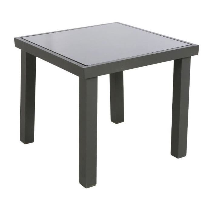 table appoint exterieur piazza hesperide graphite achat vente table basse jardin table. Black Bedroom Furniture Sets. Home Design Ideas