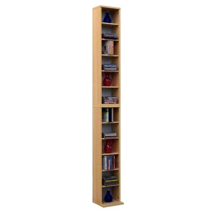 Bigol commode tour rangement biblioth que cd dvd 204 cd rouge achat vente - Bibliotheque dvd meuble ...