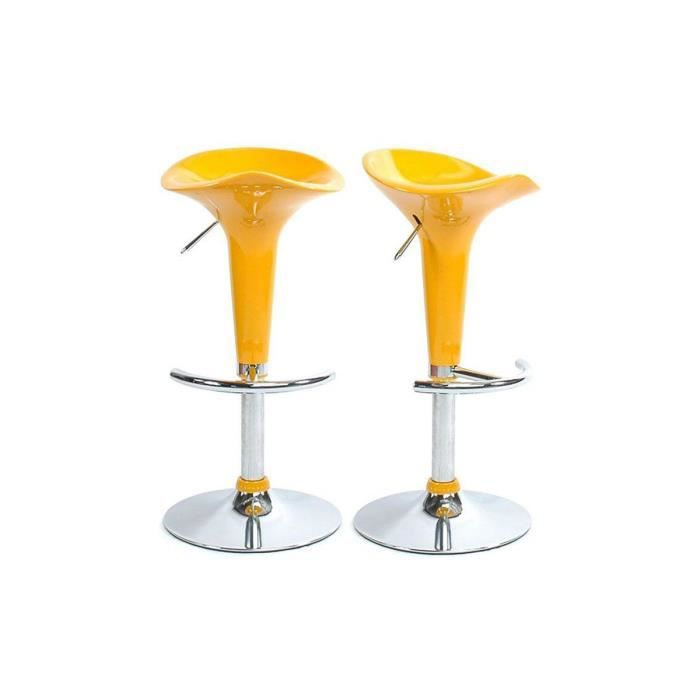tabourets de bar jaune design galaxy lot de 2 achat vente tabouret de bar m tal cdiscount. Black Bedroom Furniture Sets. Home Design Ideas