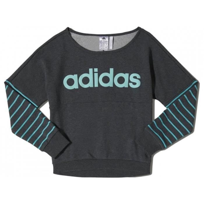 yg w lin sweat ant sweat fille adidas gris gris achat. Black Bedroom Furniture Sets. Home Design Ideas