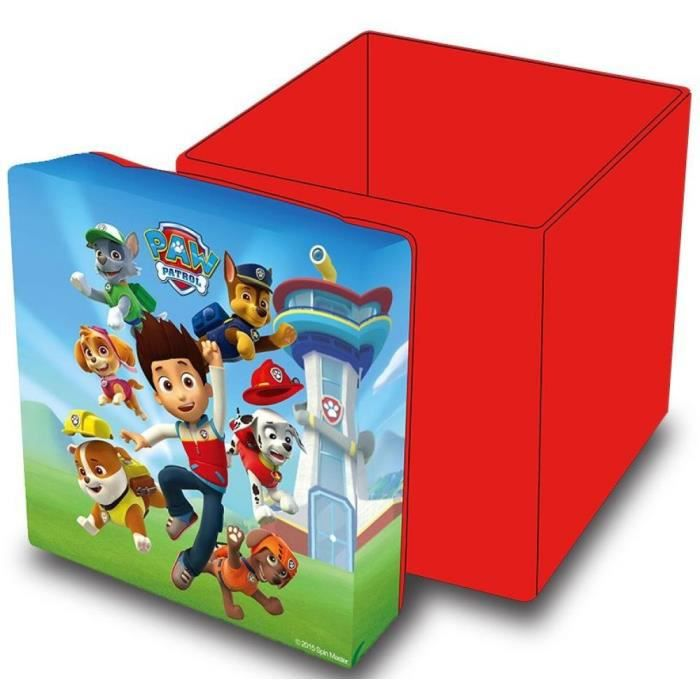 pouf de rangement pat patrouille paw patrol achat. Black Bedroom Furniture Sets. Home Design Ideas