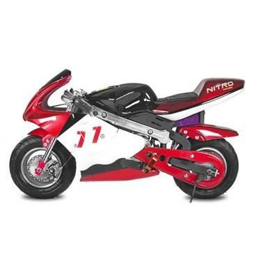 mini moto pocket bike lectrique 800 w noire et rouge. Black Bedroom Furniture Sets. Home Design Ideas