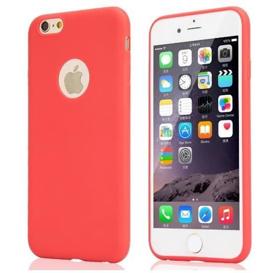 coque silicone couleurs iphone 6 6s apple mat ultr