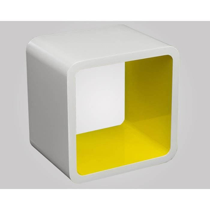etagere cube jaune achat vente etagere cube jaune pas. Black Bedroom Furniture Sets. Home Design Ideas