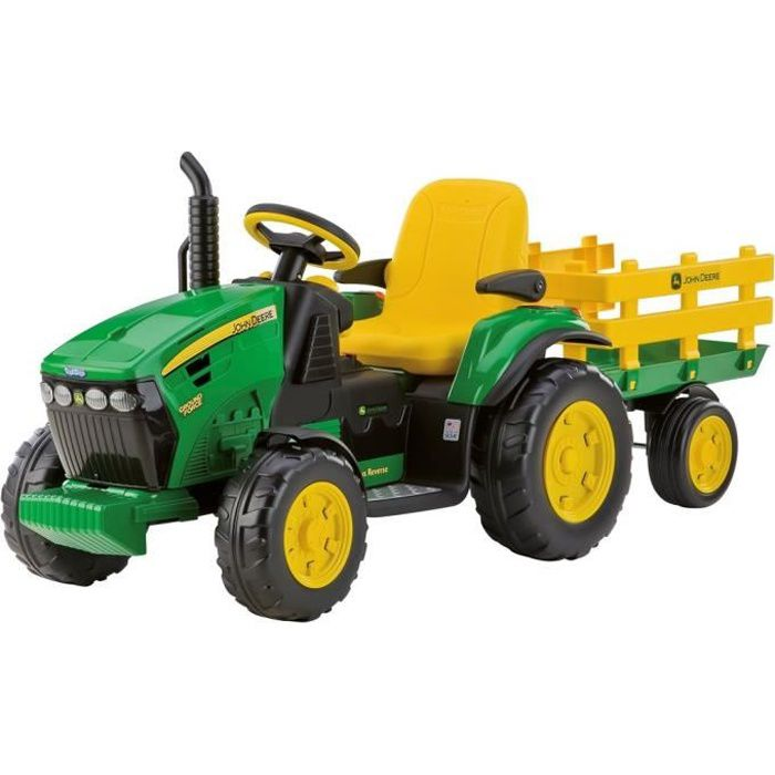 peg perego tracteur electrique john deere ground force 12 volts achat vente tracteur. Black Bedroom Furniture Sets. Home Design Ideas