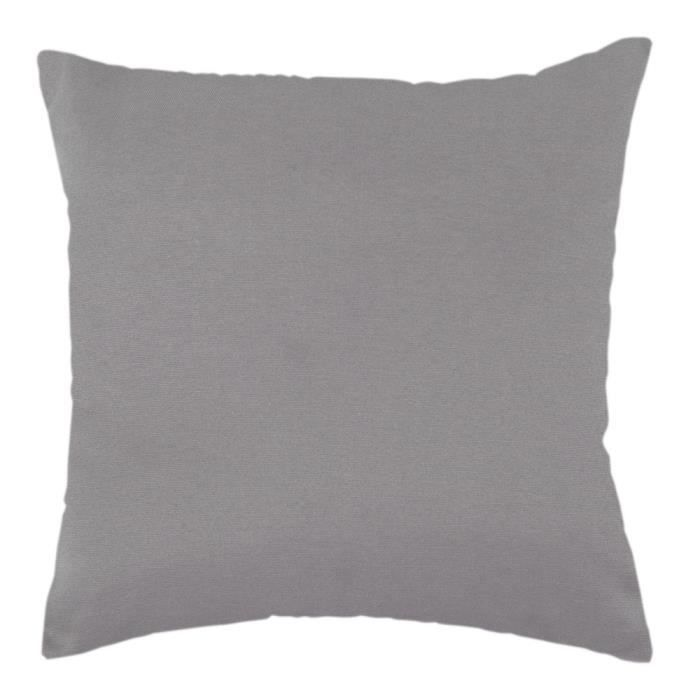 coussin polycoton 38 x 38 cm gris argent achat vente. Black Bedroom Furniture Sets. Home Design Ideas