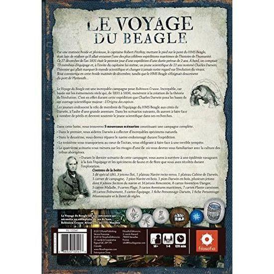 RC02 Asmodee Le Voyage du Beagle Extension Robinson Cruso/é