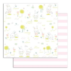 TOGA Lot de 10 papiers recto verso - 30x30 - bout'chou rose