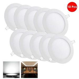 SPOTS - LIGNE DE SPOTS 10X6W Ultra mince LED Spot Encastrable Plafonnier